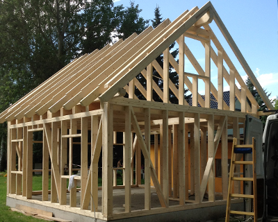 Holzskelettbauweise  Moderne Holzbau-Bauweisen